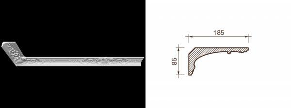 Карниз гипсовый с рисунком КР-1