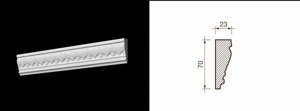 Kарниз гипсовый с рисунком КР-10