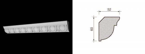 Kарниз гипсовый с рисунком КР-11