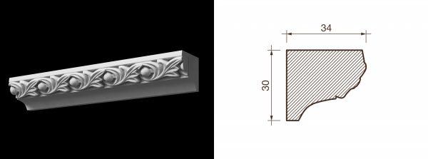 Kарниз гипсовый с рисунком КР-14
