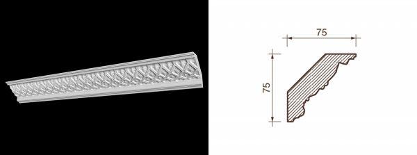 Kарниз гипсовый с рисунком КР-15
