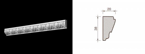 Kарниз гипсовый с рисунком КР-16