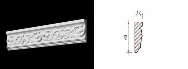 Kарниз гипсовый с рисунком КР-18