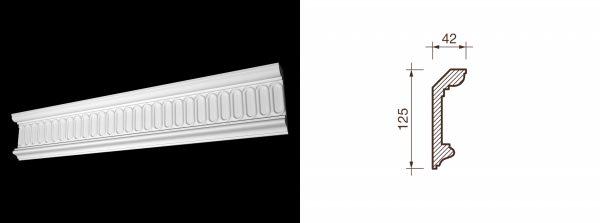 Kарниз гипсовый с рисунком КР-19