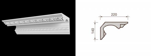 Карниз гипсовый с рисунком КР-3