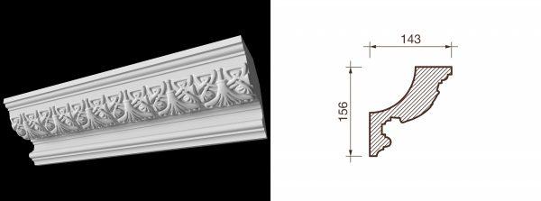 Карниз гипсовый с рисунком КР-7