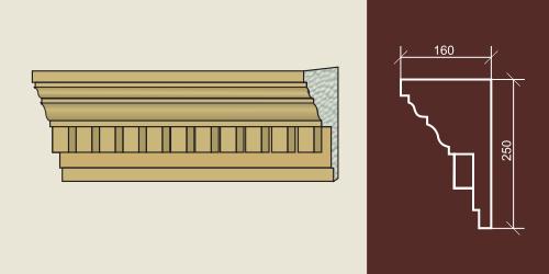 Карниз художественный для фасада КХФ-3