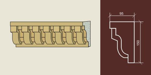 Карниз художественный для фасада КХФ-5