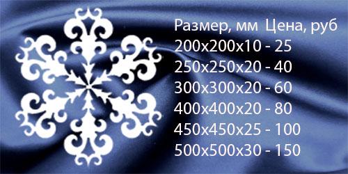 Снежинка декоративная №1