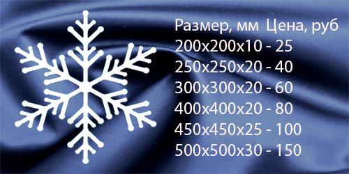Снежинка декоративная №4