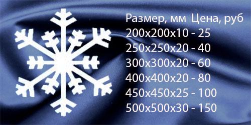 Снежинка декоративная №5