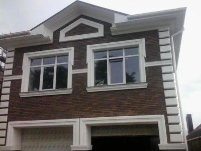 Фасадный декор из пенопласта с покрытием